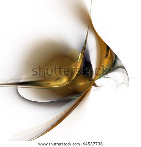 digital fractal on white background - stock photo