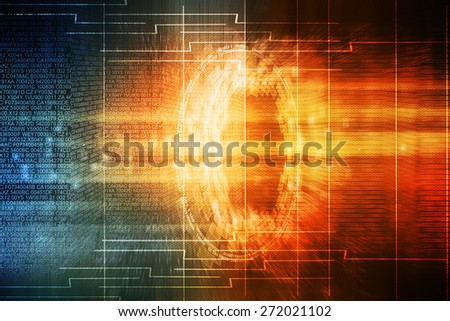 Digital futuristic background