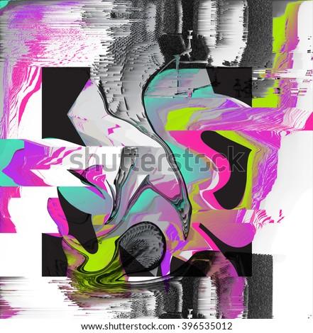digital glitch background - stock photo