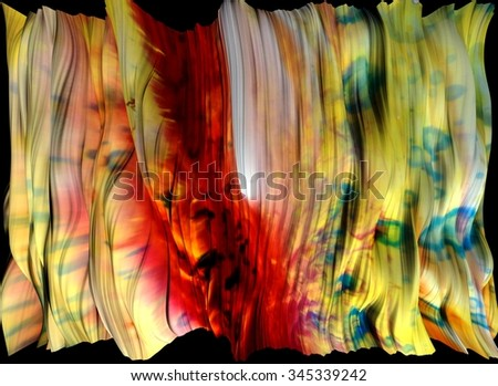digital graphic:  tie-dye curtain - stock photo