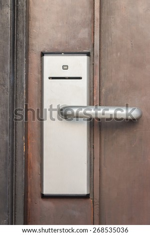 Digital handle card door lock , security system - stock photo
