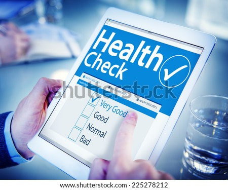 Digital Health Check Healthcare Concept - stock photo