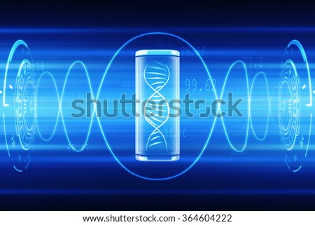 Digital illustration DNA structure - stock photo