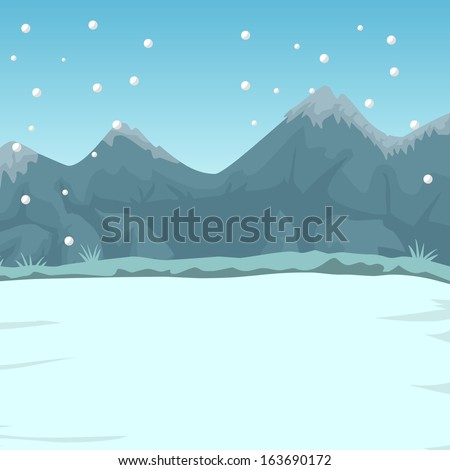 Digital illustration featuring some winter and christmas themed backgrounds and elements.