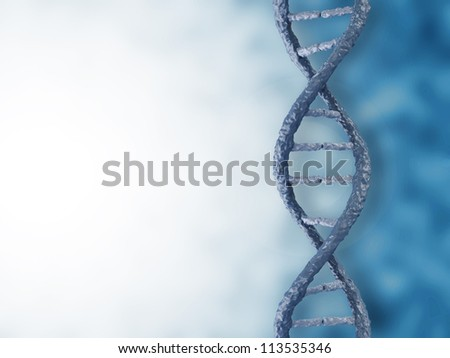 Digital illustration of a DNA with place for your text - stock photo