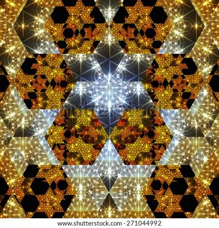Digital Illustration of a kaleidoscopic Pattern - stock photo