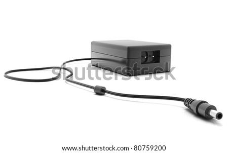 Digital illustration of adapter in isolated  background - stock photo