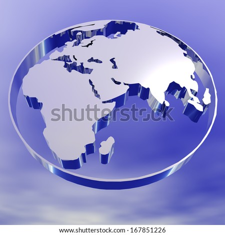 Digital Illustration of an Earth Pictogram - stock photo
