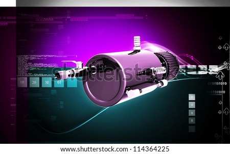 Digital illustration of Catch can in colour background