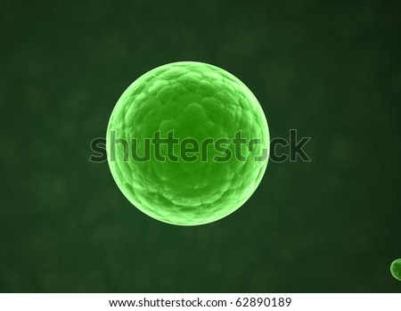 Digital illustration of CELL - science background - stock photo