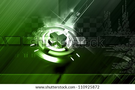 Digital illustration of Clinical symbol in isolated background - stock photo