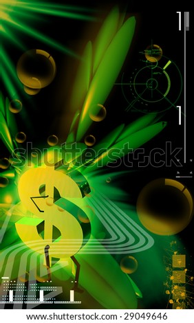 Digital illustration of dollar walking