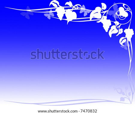 digital illustration of grape vine background