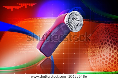 Digital illustration of Lint remover  in colour  backgroud