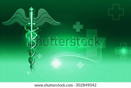 Digital illustration of Medical symbol in  color background  - stock photo