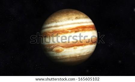 Digital Illustration of Planet Jupiter - stock photo