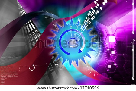 Digital illustration of power sign in isolated background