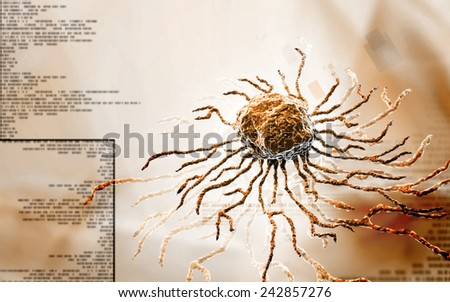 Digital illustration  of stem cell in   colour background   - stock photo