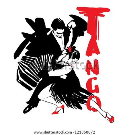 digital illustration/Tango - stock photo