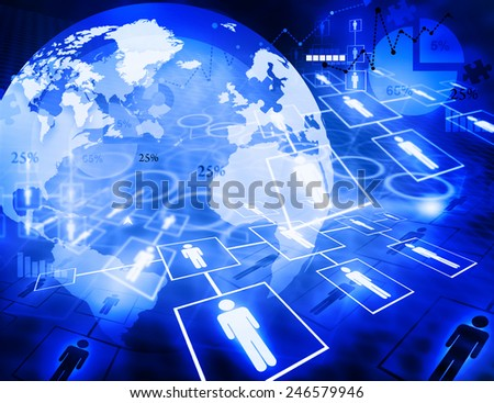 Digital image of  business networking  - stock photo
