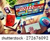 Digital Marketing Commerce Campaign Promotion Concept - stock photo