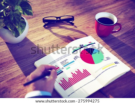 Digital Marketing Graph Statistics Analysis Finance Stock Photo ...