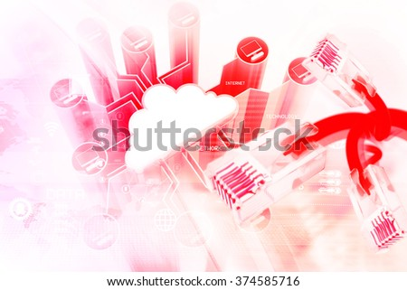 Digital network devices - stock photo