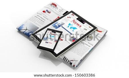 Digital news concept  - stock photo