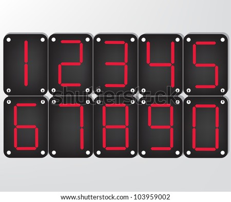 Digital number - stock photo