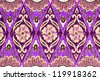 Digital Oil Painting  Of Beautiful Batik Patterns - stock photo