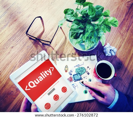 Digital Online Effective Quality Office Working Concept - stock photo
