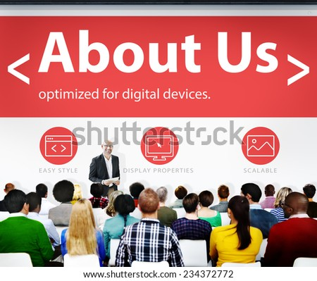 Digital Online Information About us Business Concept - stock photo