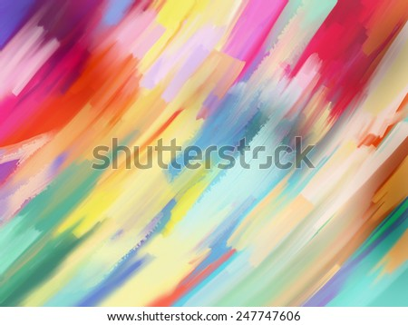 Digital Painting Abstract Textured Colorful Background - stock photo
