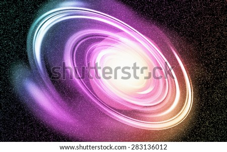 Digital Painting Colorful Vibrant Beautiful Abstract Galaxy Background - Colorful Star - stock photo