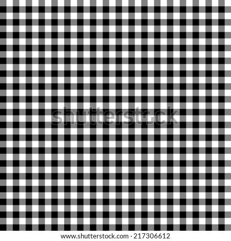Digital Paper Scrapbook Black White Gingham Stock Illustration
