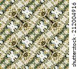 Digital photo manipulation and collage technique abstract pattern with geometric oblique motif.  - stock photo