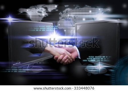 Digital planet, Business world wide internet network online. - stock photo