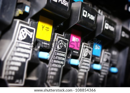 digital printing press - stock photo
