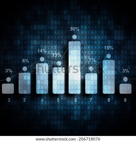 digital report - stock photo