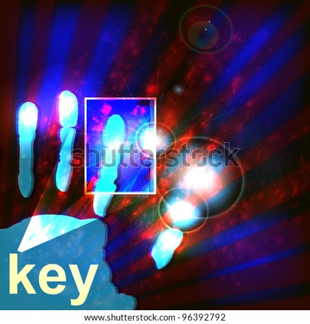 Digital security concept, vector illustration . - stock photo