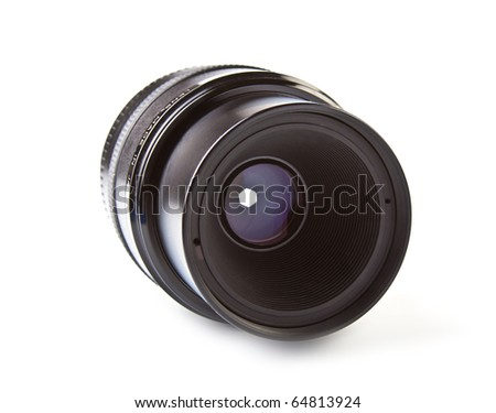 Digital SLR camera lens - stock photo