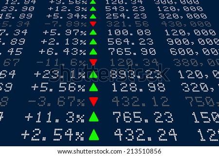 Digital Stock exchange panel - stock photo