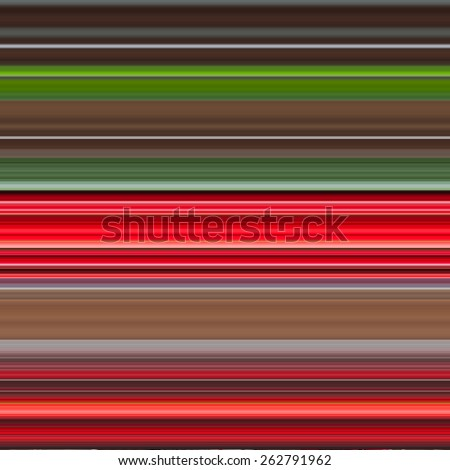 Digital Strips by One Pixels. Red, Green colors. illustration. Abstract Background - stock photo