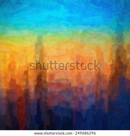 Digital structure of painting. Abstract art vintage  painting  - stock photo