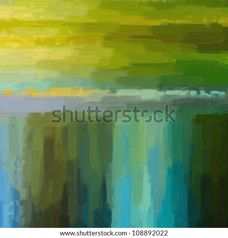 Digital structure of painting.  abstract design background, lines of oil paint - stock photo