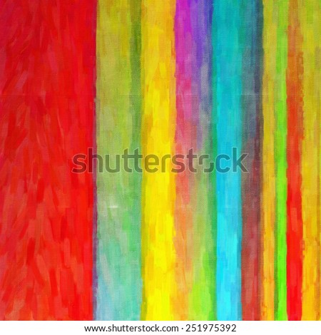 Digital structure of painting. Abstract rainbow colorful art line - stock photo
