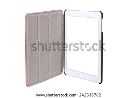 Digital tablet ipad computer with isolated screen - stock photo
