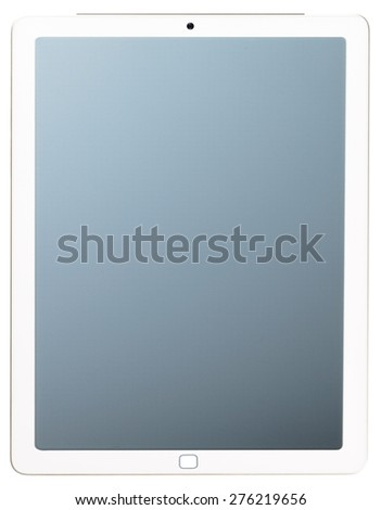 Digital tablet isolated on white. - stock photo