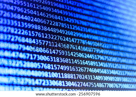 Digital technology background. Programming code abstract screen of software developer. Computer script, function. MORE SIMILAR IN MY GALLERY - stock photo