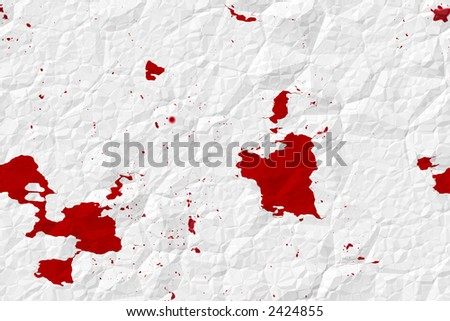 Digital texture of old crumpled paper with blood stains as crime evidence concept. - stock photo